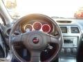 2005 Subaru Impreza Black/Blue Ecsaine Interior Steering Wheel Photo