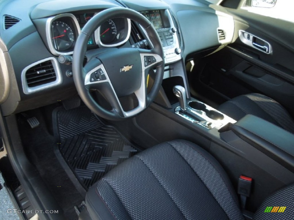 Jet Black Interior 2012 Chevrolet Equinox Lt Photo 76312929