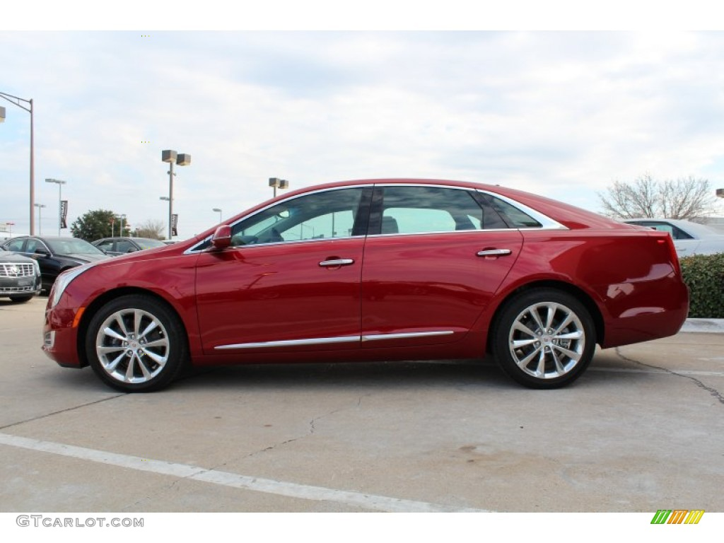 Crystal Red Tintcoat 2013 Cadillac Xts Luxury Fwd Exterior Photo 76314049