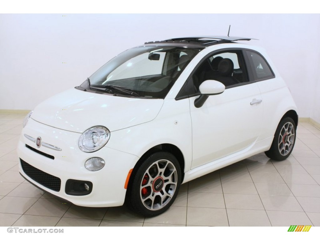 bianco white 2012 fiat 500 sport exterior photo. Black Bedroom Furniture Sets. Home Design Ideas