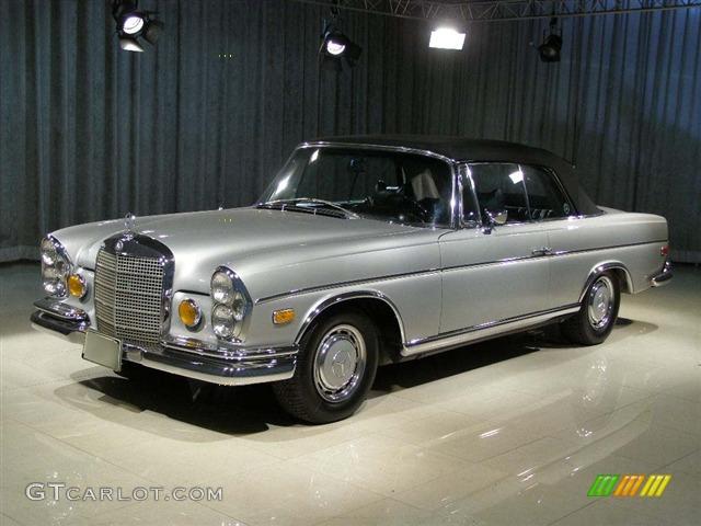 1969 silver mercedes benz s class convertible 53990 for Mercedes benz s class colours