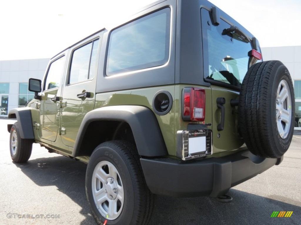 2013 Commando Green Jeep Wrangler Unlimited Sport 4x4  76332651 Photo  2