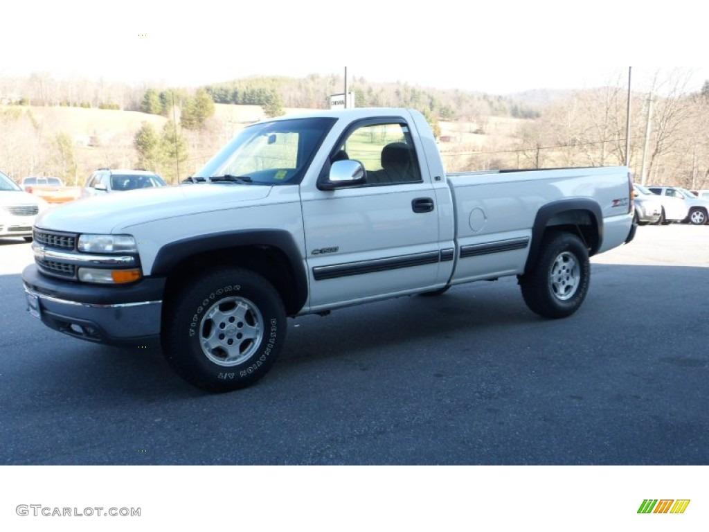 2000 Silverado 1500 LS Regular Cab 4x4 - Summit White / Graphite photo #1