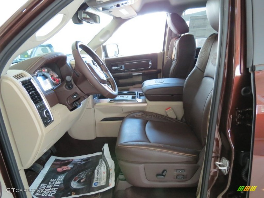 Canyon Brown Light Frost Beige Interior 2013 Ram 1500