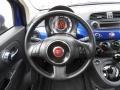 Tessuto Grigio/Nero (Grey/Black) 2012 Fiat 500 Pop Steering Wheel