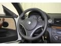 2010 BMW 1 Series Beige Boston Leather Interior Steering Wheel Photo
