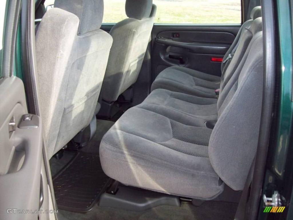 2005 Silverado 1500 LS Crew Cab 4x4 - Dark Green Metallic / Dark Charcoal photo #22