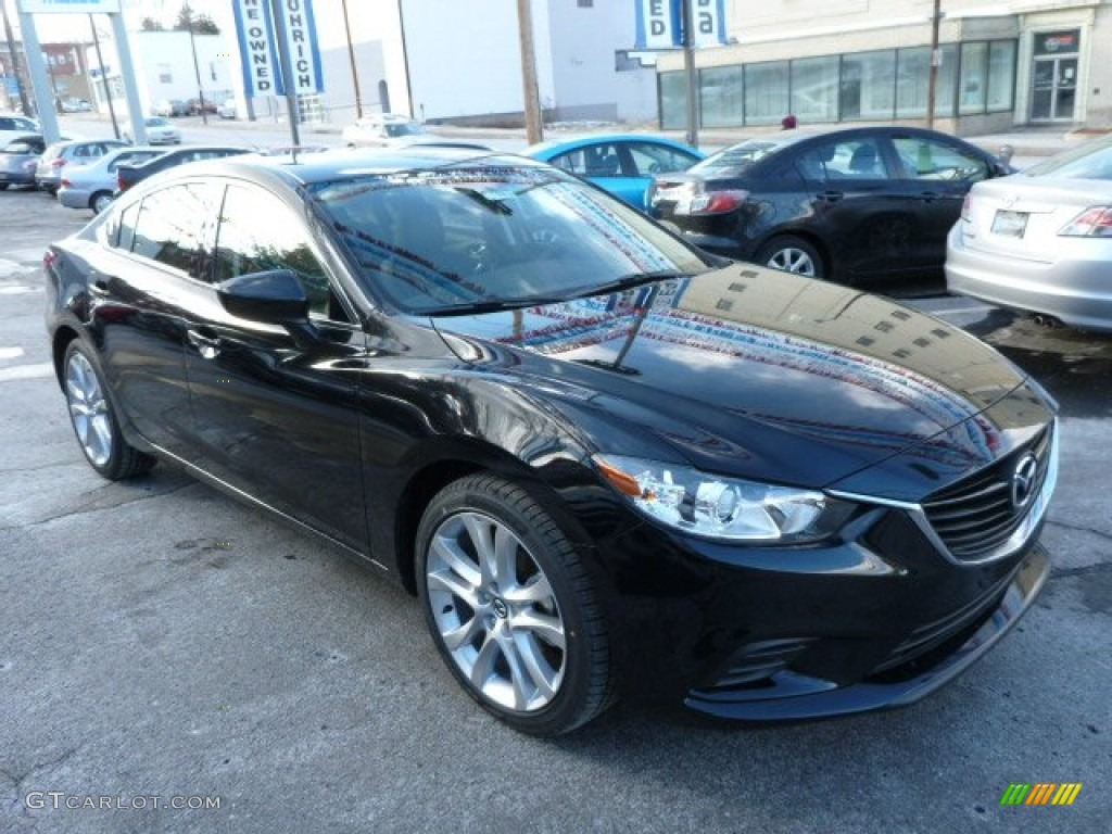 2014 MAZDA6 Touring   Jet Black Mica / Black Photo #9