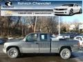 2000 Charcoal Gray Metallic Chevrolet Silverado 1500 LS Extended Cab 4x4 #76389535