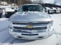 2013 Silver Ice Metallic Chevrolet Silverado 1500 LT Extended Cab 4x4  photo #2