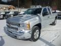 2013 Silver Ice Metallic Chevrolet Silverado 1500 LT Extended Cab 4x4  photo #3