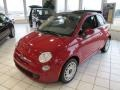 Rosso (Red) 2012 Fiat 500 c cabrio Pop Exterior