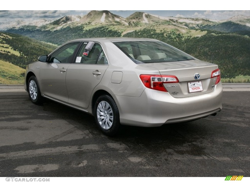 2013 champagne mica toyota camry hybrid le 76388881 photo 2 car color galleries. Black Bedroom Furniture Sets. Home Design Ideas