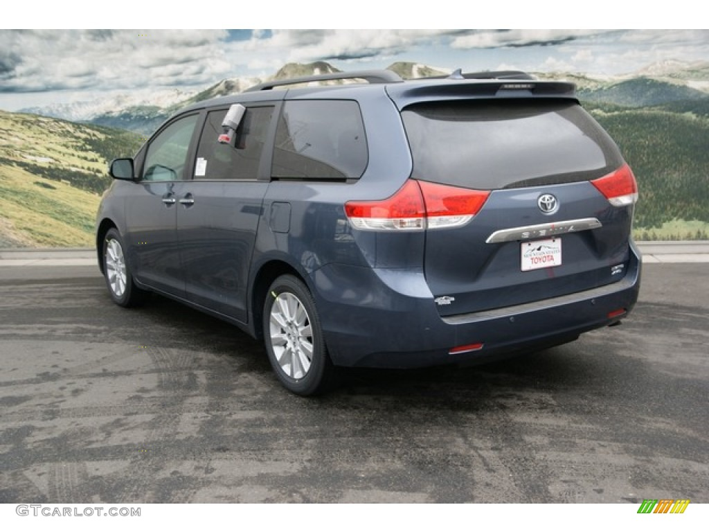 2013 shoreline blue pearl toyota sienna limited awd. Black Bedroom Furniture Sets. Home Design Ideas