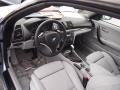 2009 BMW 1 Series Grey Boston Leather Interior Prime Interior Photo