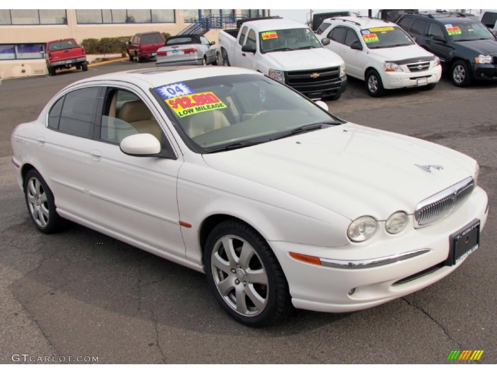 White Onyx 2004 Jaguar X-Type 3.0 Exterior Photo #76458947 ...