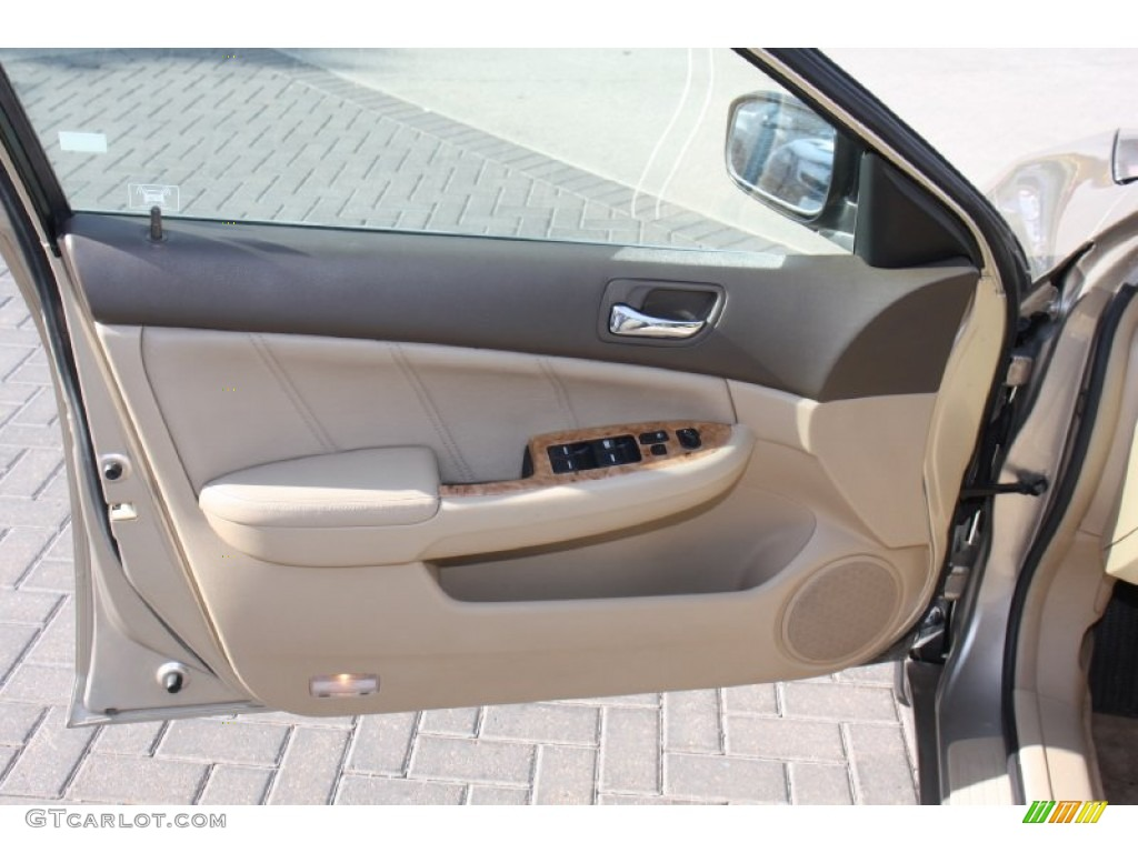 2003 honda accord ex l sedan ivory door panel photo. Black Bedroom Furniture Sets. Home Design Ideas
