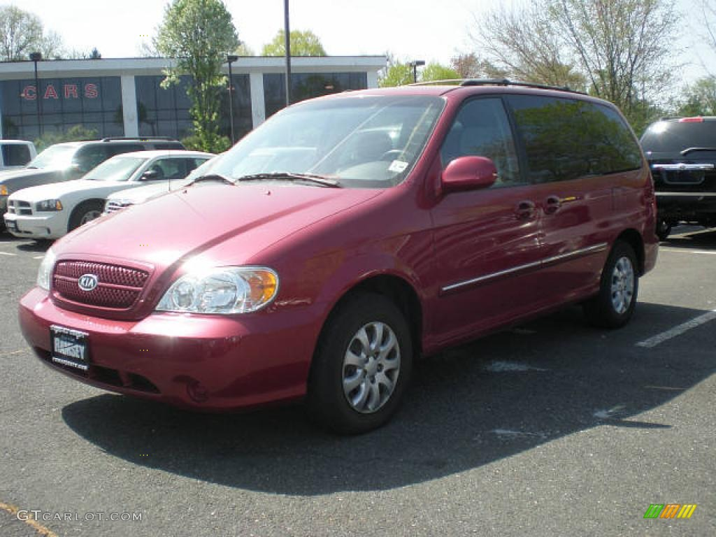 2005 ruby red metallic kia sedona lx 7635082 car color galleries. Black Bedroom Furniture Sets. Home Design Ideas