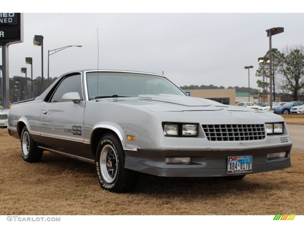silver metallic 1987 chevrolet el camino ss sport exterior. Black Bedroom Furniture Sets. Home Design Ideas