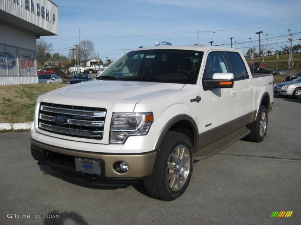 white platinum metallic tri coat 2013 ford f150 king ranch supercrew 4x4 exterior photo. Black Bedroom Furniture Sets. Home Design Ideas
