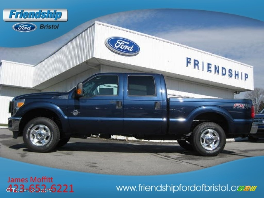 2014 Blue Jeans Metallic Ford F250 Super Duty King Ranch Crew Cab 4x4