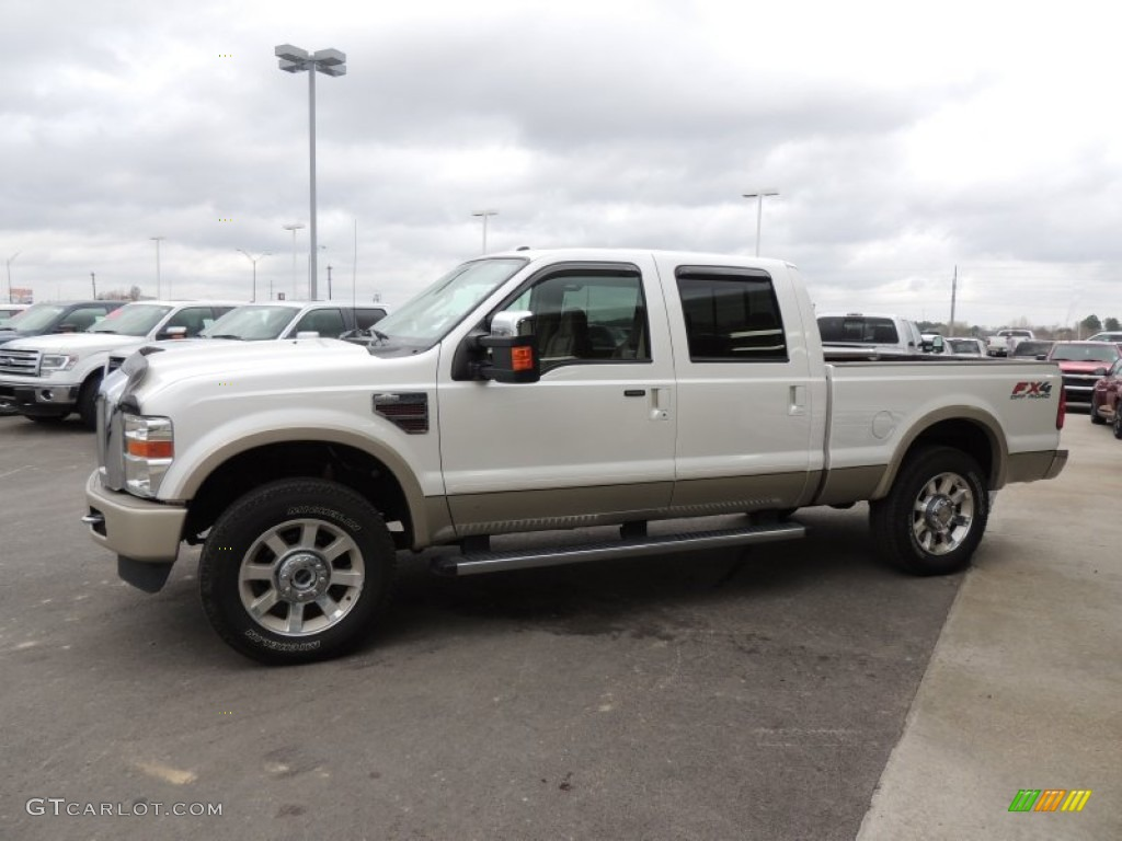 Oxford white 2010 ford f250 super duty king ranch crew cab 4x4 exterior photo 76521557