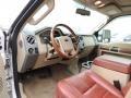 2010 Ford F250 Super Duty Chaparral Leather Interior Prime Interior Photo