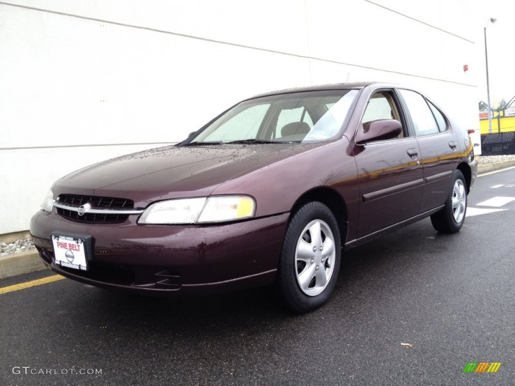 1998 Black Cherry Pearl Metallic Nissan Altima Gxe