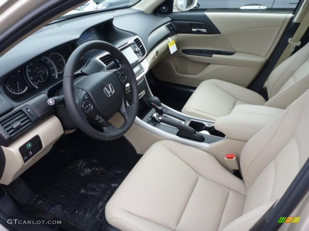 Ivory Interior 2017 Honda Accord Ex L V6 Sedan Photo 76553714