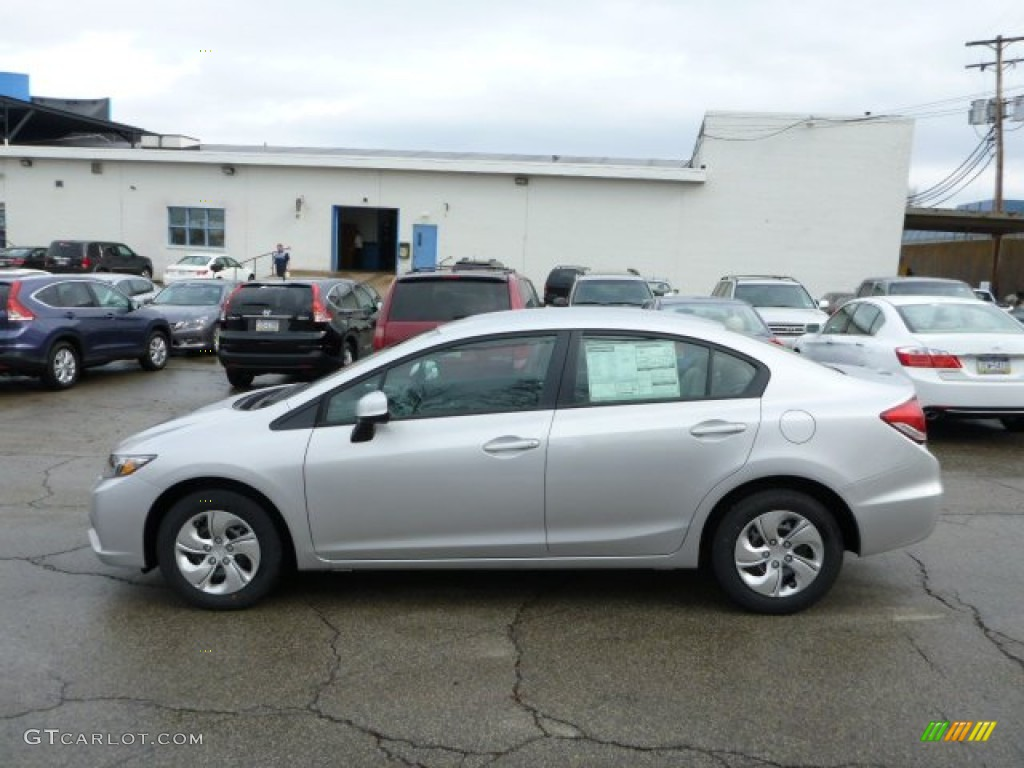 2013 Alabaster Silver Metallic Honda Civic Lx Sedan