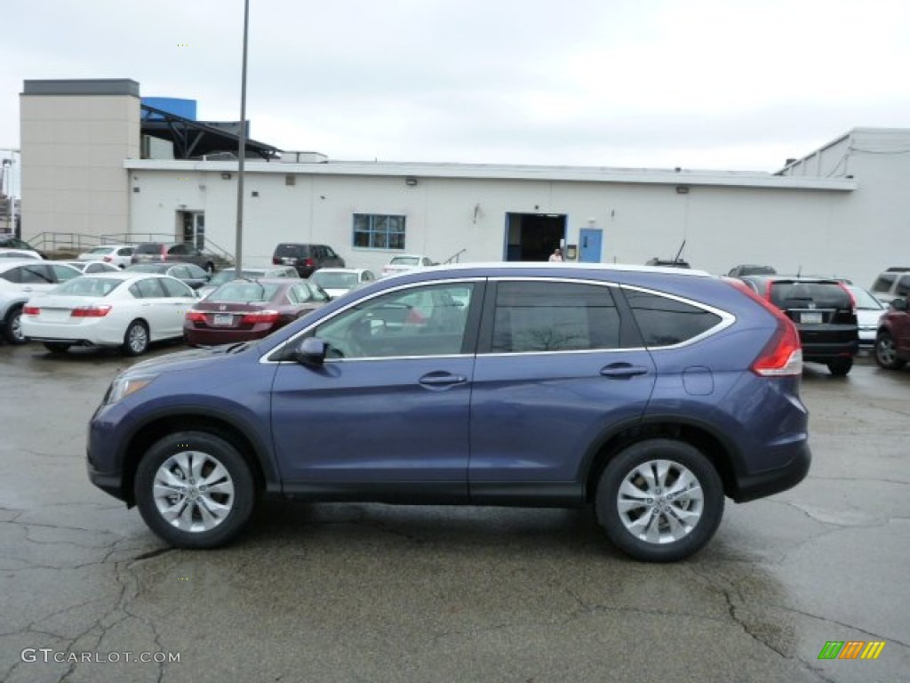 2013 CR-V EX-L AWD - Twilight Blue Metallic / Gray photo #1