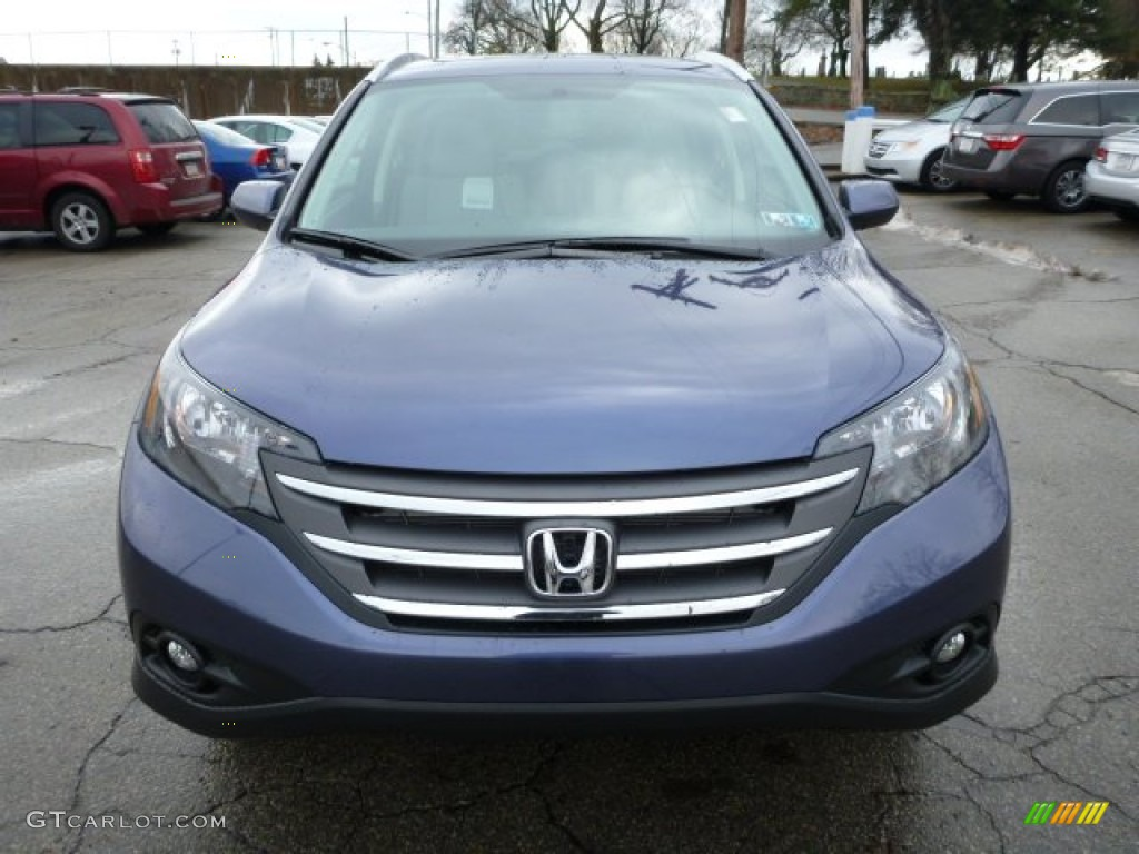 2013 CR-V EX-L AWD - Twilight Blue Metallic / Gray photo #7