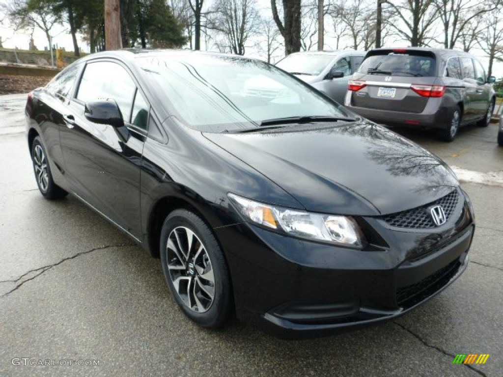 crystal black pearl 2013 honda civic ex coupe exterior