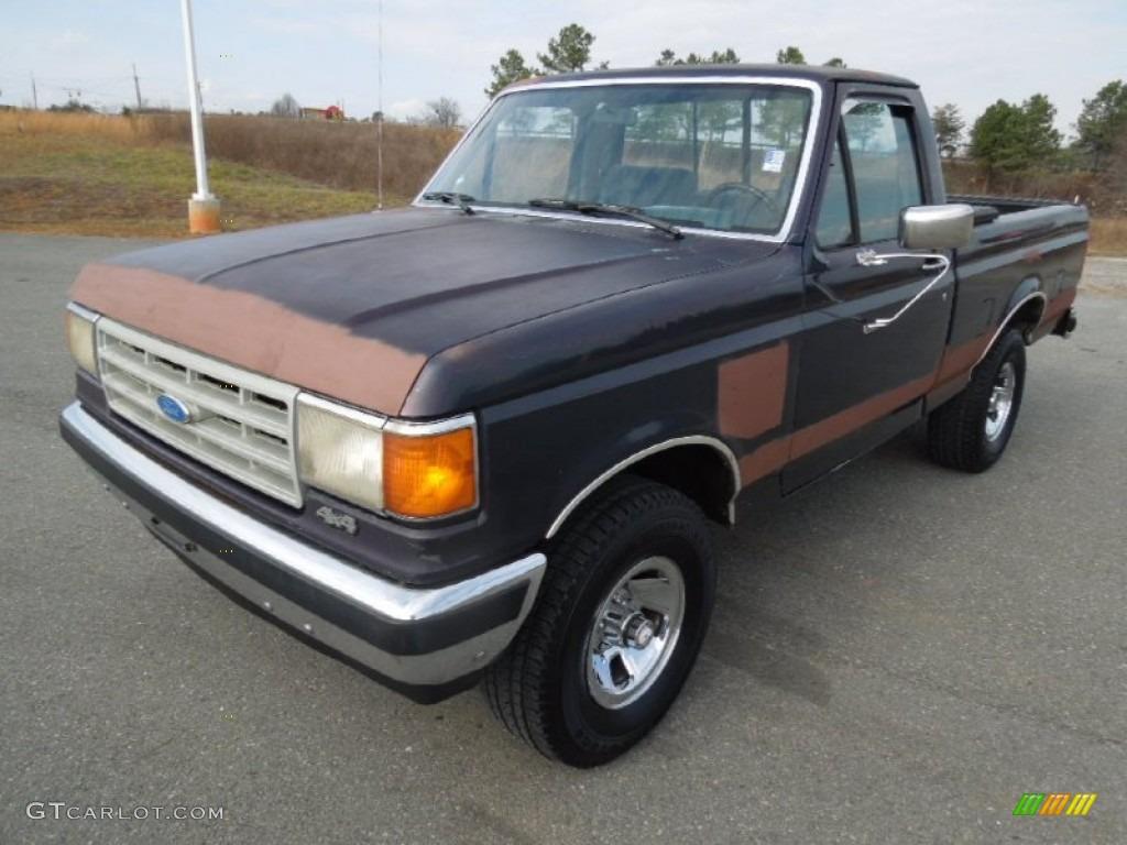 1988 dark shadow blue metallic ford f150 xlt lariat regular cab 4x4 76565139. Black Bedroom Furniture Sets. Home Design Ideas