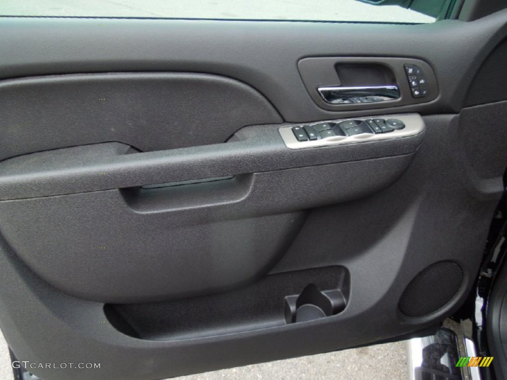 2013 Chevrolet Silverado 1500 LTZ Crew Cab 4x4 Ebony Door Panel Photo #76575391