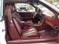 1991 SL Class 300 SL Roadster Red Interior