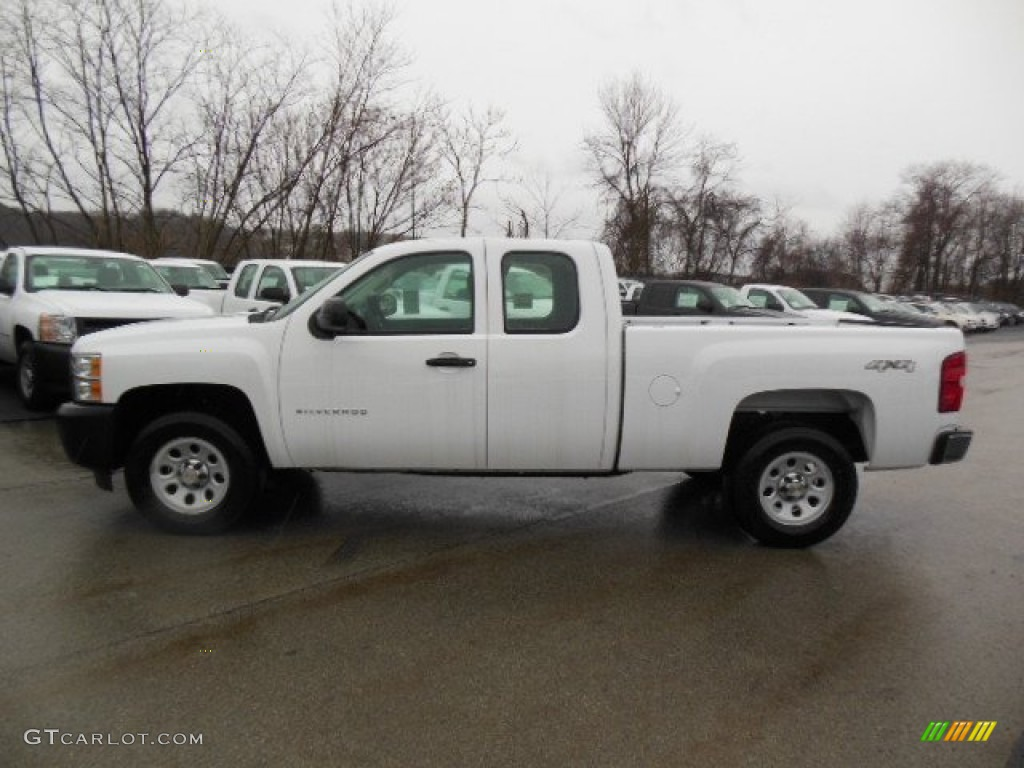 2012 Silverado 1500 Work Truck Extended Cab 4x4 - Summit White / Dark Titanium photo #1