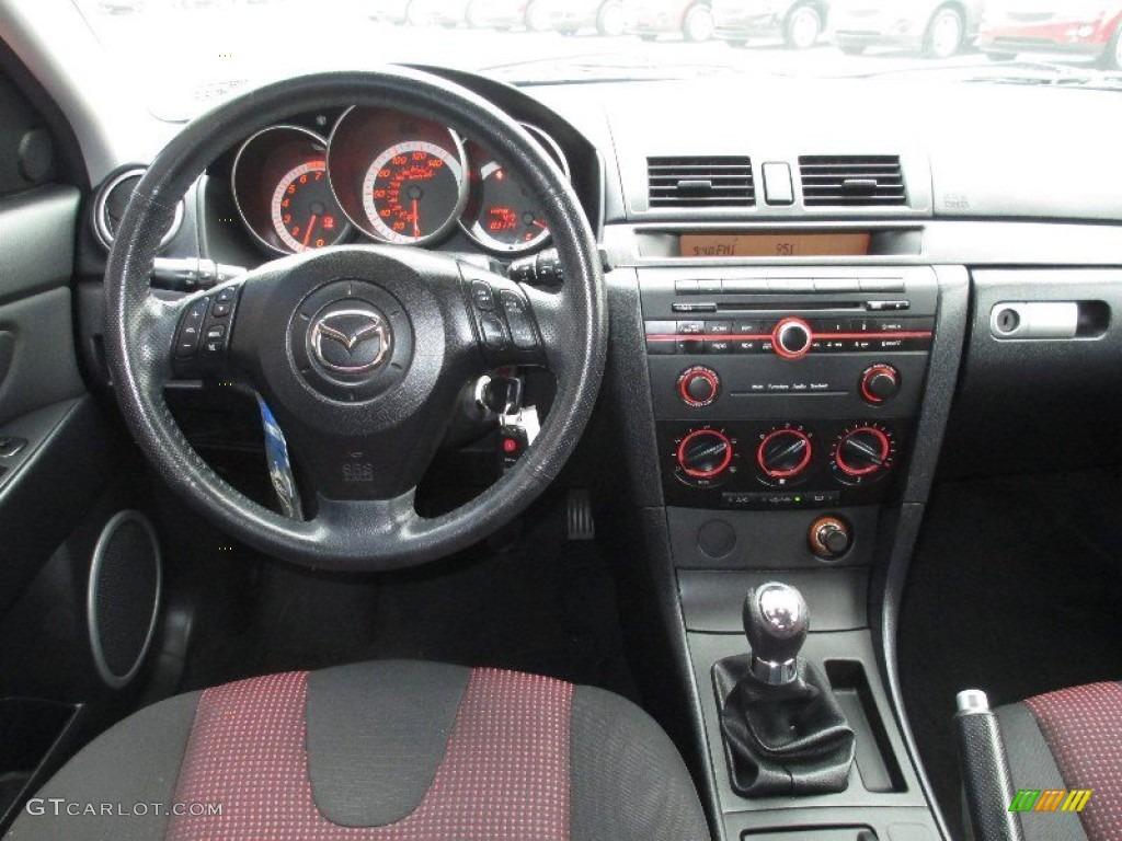 2006 Mazda Mazda3 S Touring Hatchback Black Red Dashboard Photo 76599760