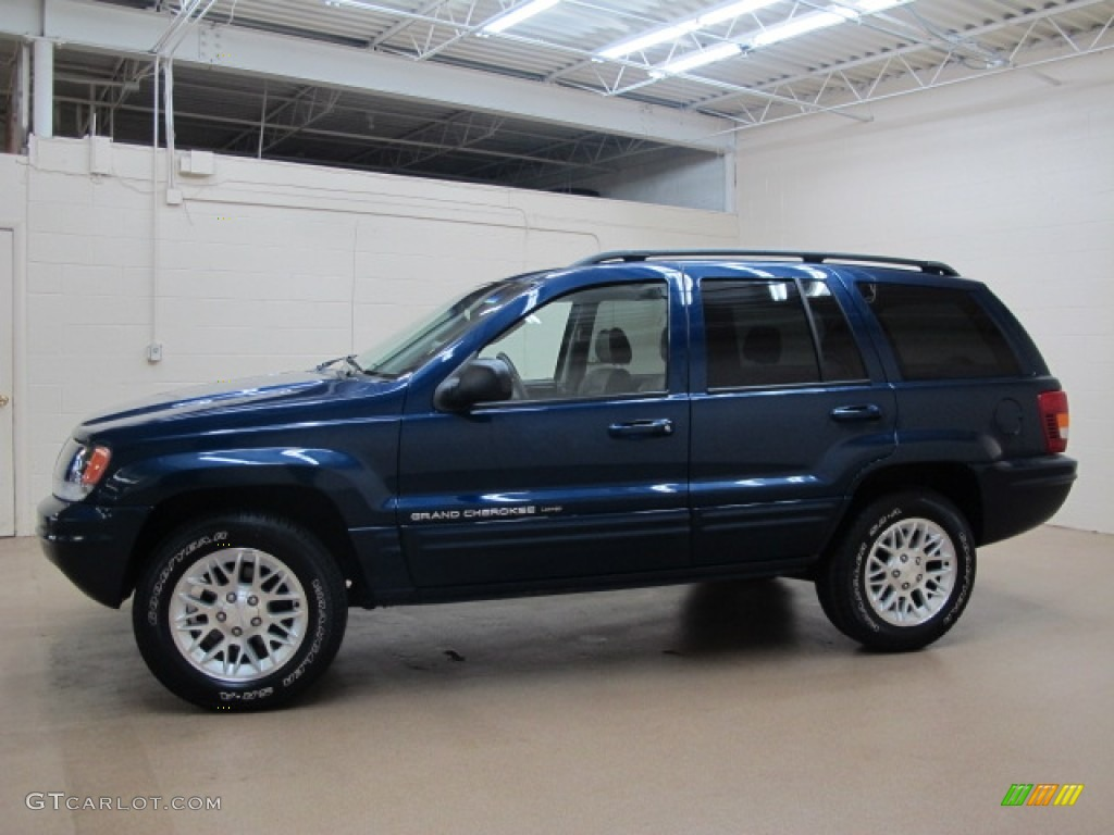 Patriot Blue Pearlcoat 2002 Jeep Grand Cherokee Limited ...