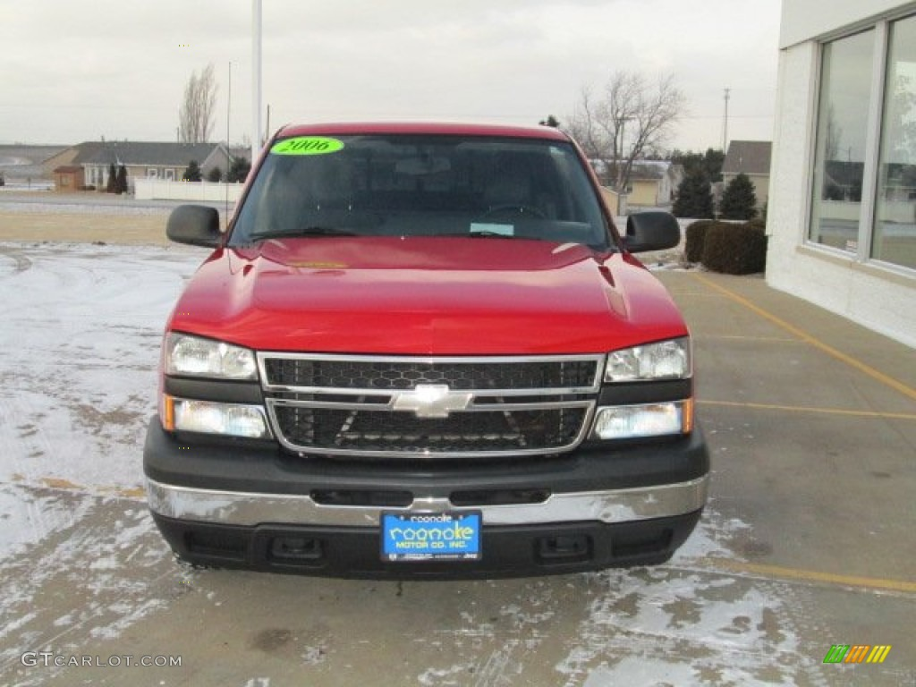2006 Silverado 1500 Work Truck Regular Cab - Victory Red / Dark Charcoal photo #6