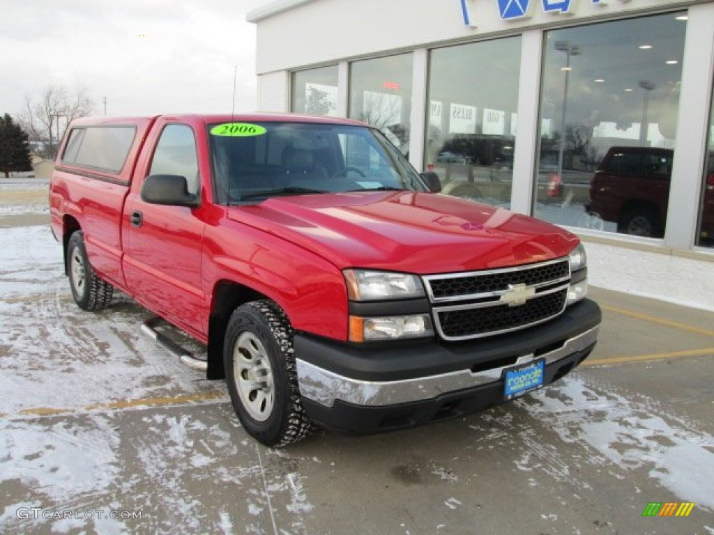 2006 Silverado 1500 Work Truck Regular Cab - Victory Red / Dark Charcoal photo #12
