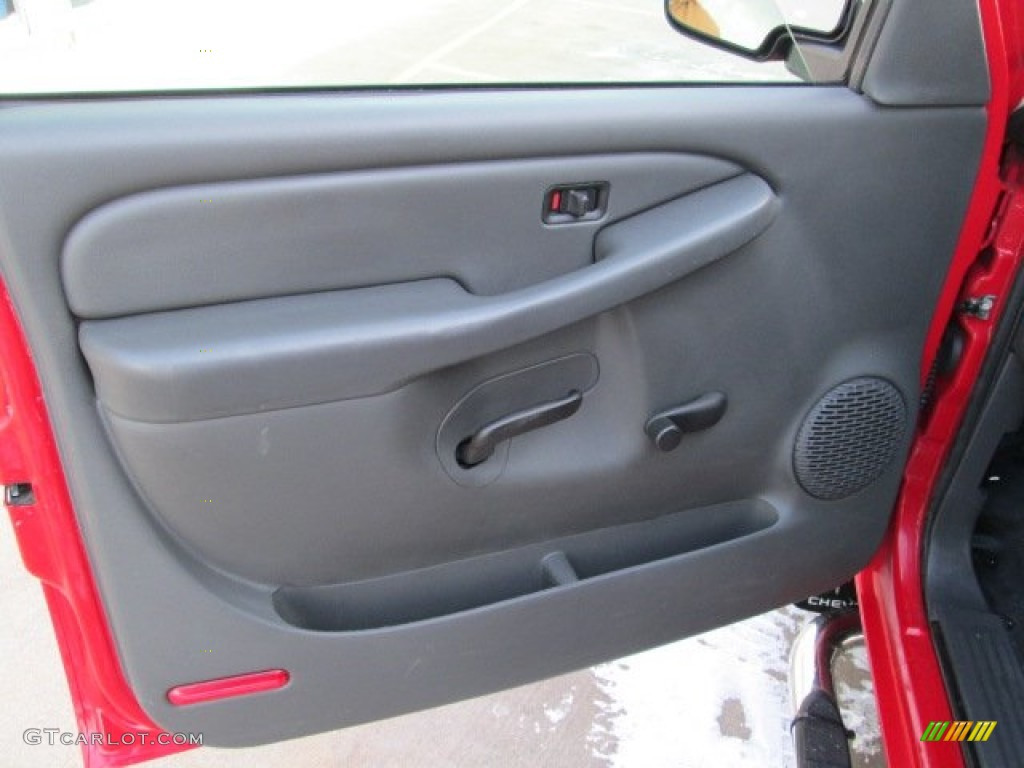 2006 Silverado 1500 Work Truck Regular Cab - Victory Red / Dark Charcoal photo #17