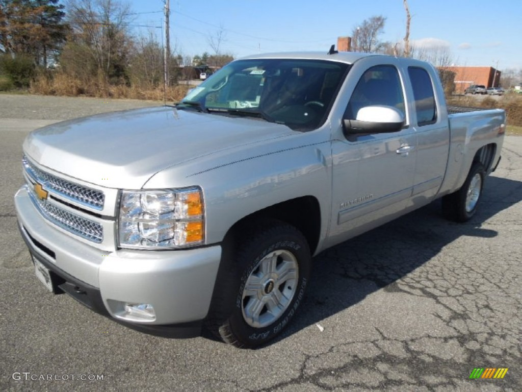 2013 Silverado 1500 LTZ Extended Cab 4x4 - Silver Ice Metallic / Ebony photo #2