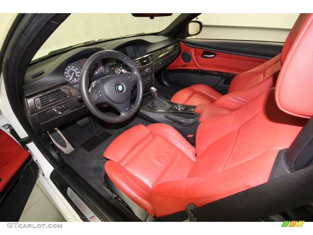 Coral Red Black Dakota Leather Interior 2010 Bmw 3 Series 335i Convertible Photo 76644072