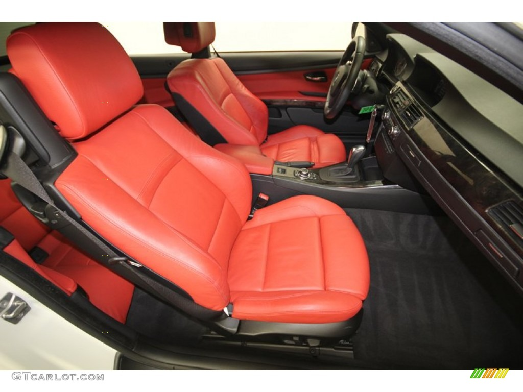 Coral Red Black Dakota Leather Interior 2010 Bmw 3 Series 335i Convertible Photo 76644611