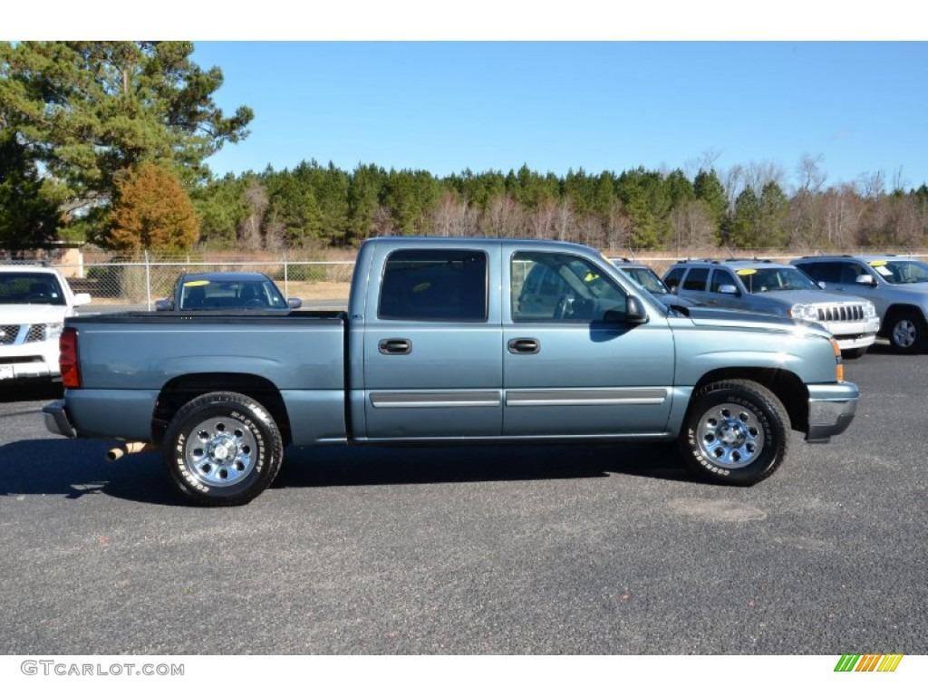 Blue Granite Metallic 2006 Chevrolet Silverado 1500 LS Crew Cab Exterior Photo #76658738