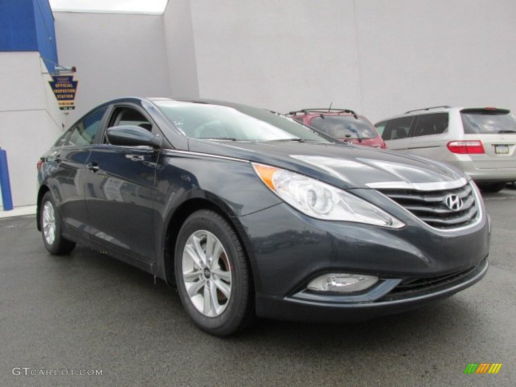 Pacific Blue Pearl 2013 Hyundai Sonata Gls Exterior Photo