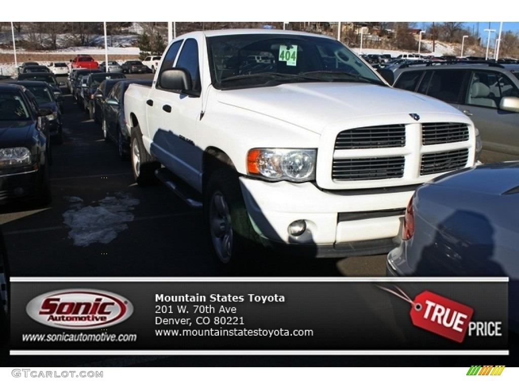 2002 Ram 1500 Sport Quad Cab 4x4 - Bright White / Dark Slate Gray photo #1