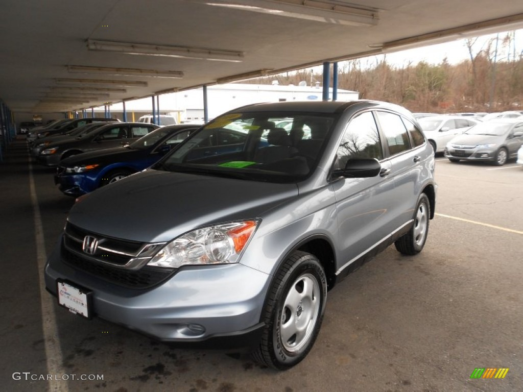 2010 CR-V LX AWD - Glacier Blue Metallic / Gray photo #1