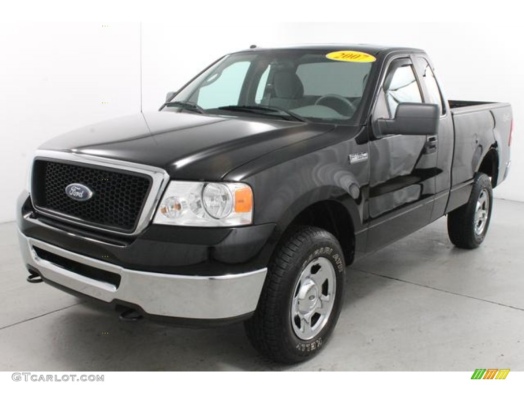 black 2007 ford f150 xlt regular cab 4x4 exterior photo 76712413. Black Bedroom Furniture Sets. Home Design Ideas